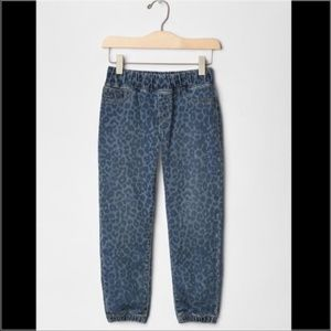 GAP Girls Cheetah Leopard Jean Denim Joggers Anima